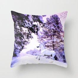 snow beauty Throw Pillow
