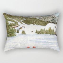 Hit the Slopes Rectangular Pillow