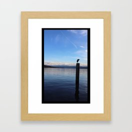 PERCHED AT LAKE ZURICH Framed Art Print