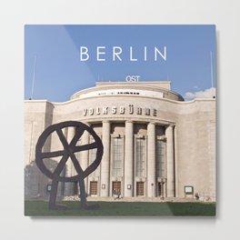 EAST BERLIN THEATRE - VOLKSBUEHNE Metal Print