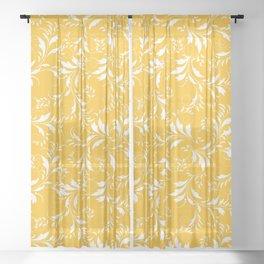 Fancy Floral Pattern Sheer Curtain