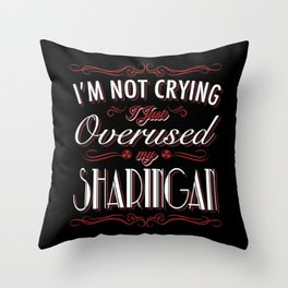 Visual Jutsu Tears  Throw Pillow