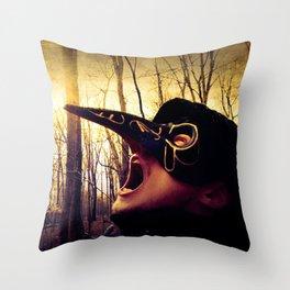 The Silent Scream Throw Pillow