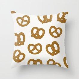 Pretzel Pattern – White Throw Pillow