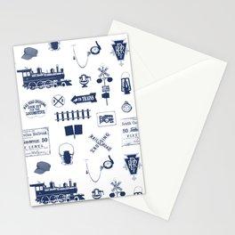 Railroad Symbols // Navy Blue Stationery Cards