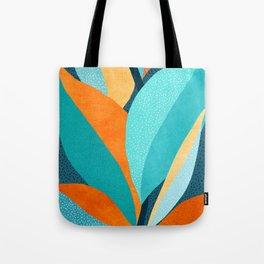 Abstract Tropical Foliage Tote Bag
