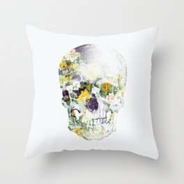 Skull Bouquet B Throw Pillow