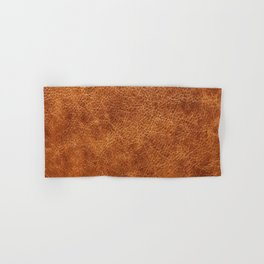 Brown vintage faux leather background Hand & Bath Towel