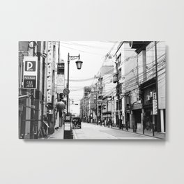 The Streets of Gion, Kyoto Metal Print