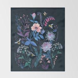Bees Garden Throw Blanket