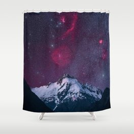 A purple sky of stars in New Zeland Shower Curtain