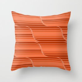 Geo Stripes - Rust Orange Throw Pillow