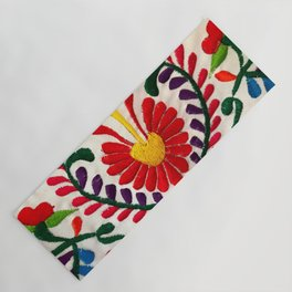 Red Mexican Flower Yoga Mat