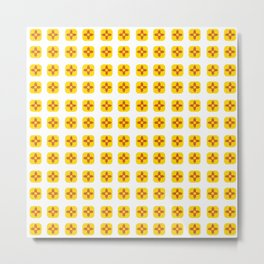 Flag of new mexico -with soft square Metal Print