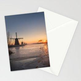 Windmills at Sunrise Stationery Cards