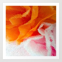Pink and orange Art Print