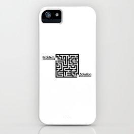 Problem Solution Maze iPhone Case