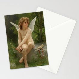 """William-Adolphe Bouguereau """"Love on the Look Out"""" Stationery Cards"""