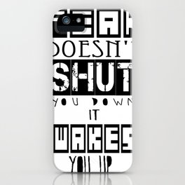"""Divergent Tris and FOUR Inspired """" Fear wakes you up!"""" iPhone Case"""