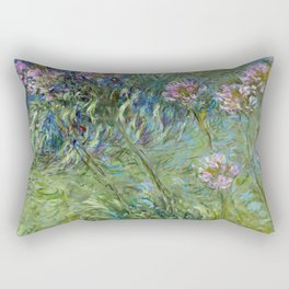 Claude Monet - Agapanthus (new color editing) Rectangular Pillow