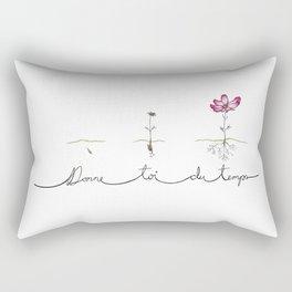 Donne toi du temps Rectangular Pillow