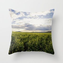 The Sea of Flowers Throw Pillow