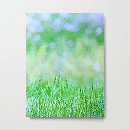 Easter Grass Metal Print