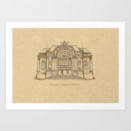 Saigon Opera House  Art Print