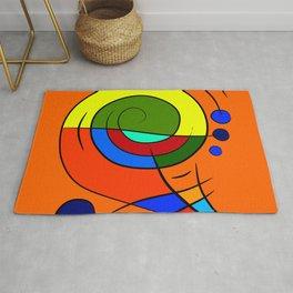 Dessimiano - the colourful snailophone Rug