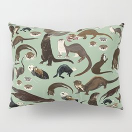 Otters of the World pattern Pillow Sham