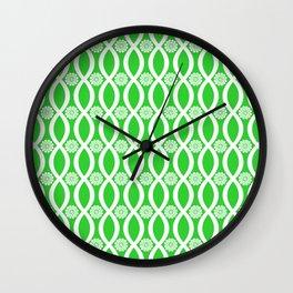 Floral Twist Lime Green Wall Clock