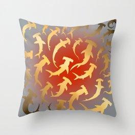 Golden Hammers Throw Pillow