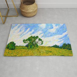 Hill With Tree Off of I-476 (World on Fire) Rug