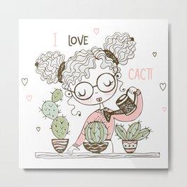 Cactus - Summer - Beach Design Metal Print