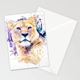New Lioness Portrait Stationery Cards