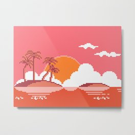 Sunset on Coco Island Metal Print