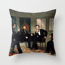 The Peacemakers -- Civil War Union Leaders Throw Pillow