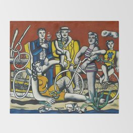 Man in the New Age by Fernand Leger Throw Blanket