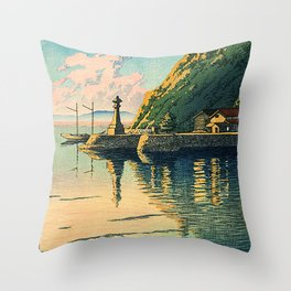 Morning in Miho - Kasui Hawase Throw Pillow