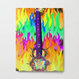 Fusion Keyblade Guitar #196 - Eternal Flame & Nightmare's End Reality Shift Metal Print
