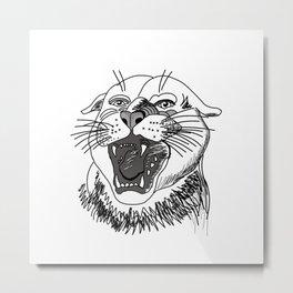 tiger angry growls ( https://society6.com/vickonskey/collection ) . Art Metal Print