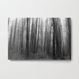 Creepy trees, black and white Metal Print