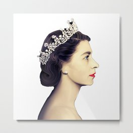QUEEN ELIZABETH II - THE YOUNG QUEEN IN PROFILE Metal Print