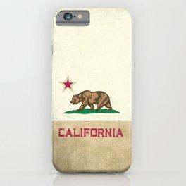 Vintage California Flag iPhone Case