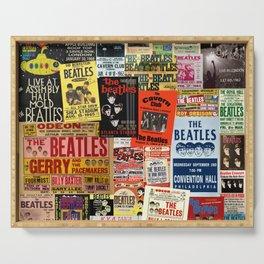 Vintage Rock Concert Posters Serving Tray