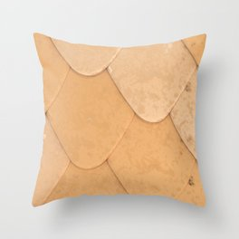Pattern of orange rounded roof tiles Throw Pillow