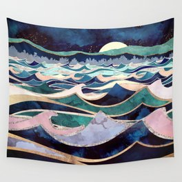 Moonlit Ocean Wandbehang