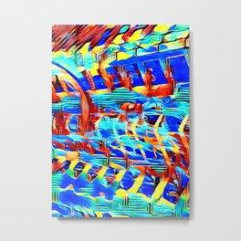 Colorstruck graffitti abstract Metal Print