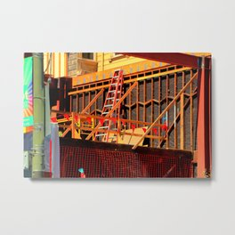 Under Over Construction Metal Print