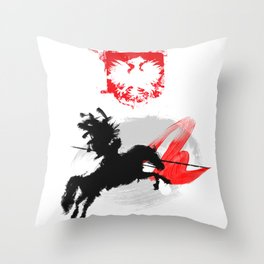 Polish Hussar Polska Husaria Throw Pillow